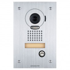 Aiphone JO Vandal Resistance Video Door Station, Stainless Steel, Flush Mount
