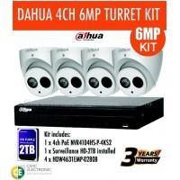 6MP Dahua 4CH IP Turret Kit