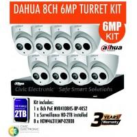 6MP Dahua 8CH IP Turret Kit