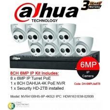 Dahua 8ch 6MP Turret Kit