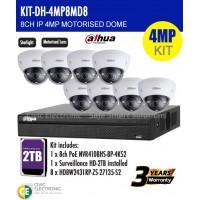 4MP Dahua 8CH IP Motorised Dome Bundle Kit