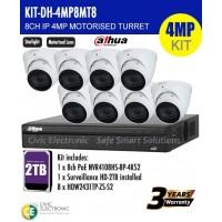 4MP Dahua 8CH IP  Motorised Turret Bundle Kit