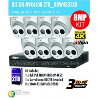 8MP Dahua 8CH IP Bundle Turret Kit