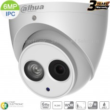 Dahua 6MP IP Turret Fixed 2.8mm Built-in Mic