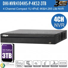 Dahua 4ch NVR Record Up to 8MP