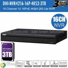 Dahua 16ch  NVR Record Up to 8MP