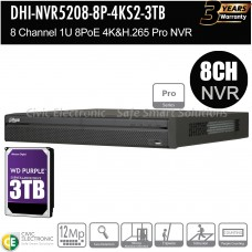 Dahua 8ch Pro Series NVR Record Up to 12MP