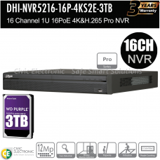 Dahua 16ch Pro Series NVR Record Up to 12MP