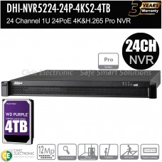 Dahua 24ch Pro Series NVR Record Up to 12MP
