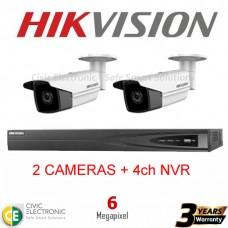 Hikvision 4ch 6MP Bullet Kit
