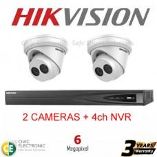 Hikvision 4ch 6MP Turret Kit