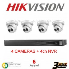 Hikvision 4ch 6MP Turret Kit