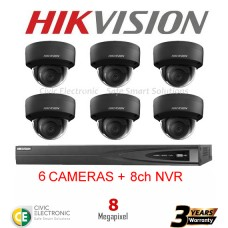 Hikvision 6ch 8MP Dome kit