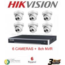 Hikvision 8ch 6MP Turret Kit