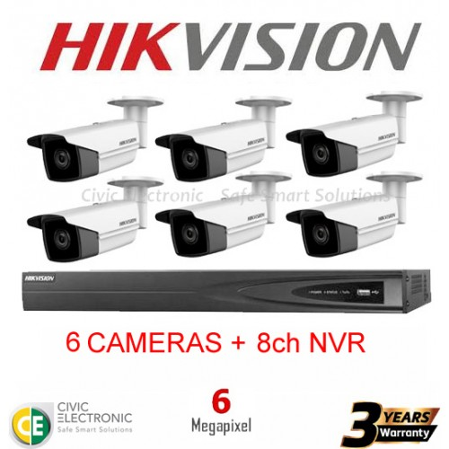 Hikvision 8ch 6MP Bullet Kit