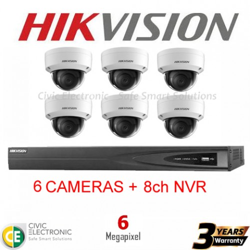 Hikvision 6ch 6MP Dome Kit