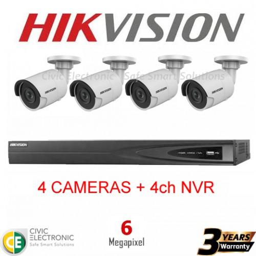 Hikvision 4ch 6MP Mini Bullet Kit