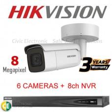 Hikvision 8ch 8MP Motorised VF Bullet Kit