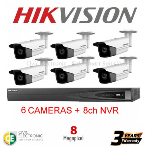 Hikvision 8ch 8MP Bullet Kit