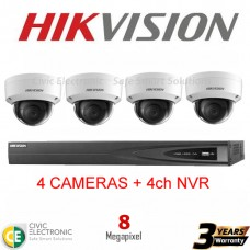 Hikvision 4ch 8MP Dome Kit