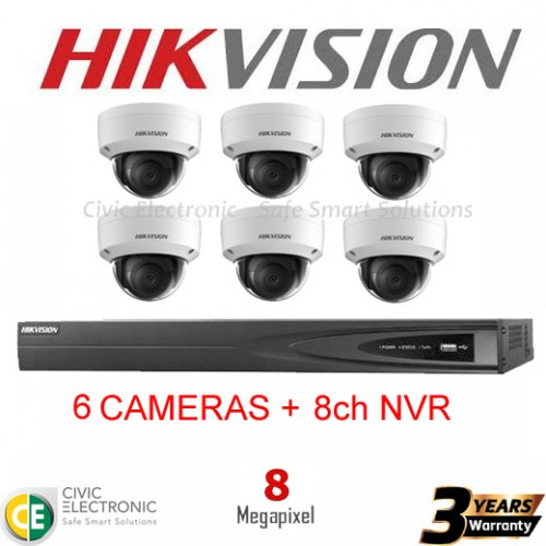 Hikvision 8ch 8MP Dome Kit