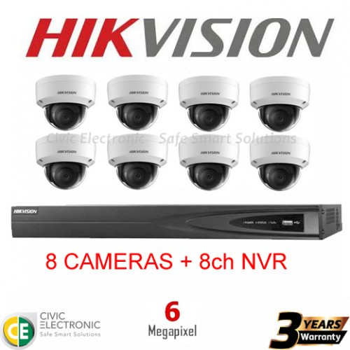 Hikvision 8ch 6MP Dome Kit