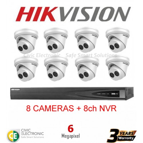 Hikvision 8ch 6MP Turret Kit