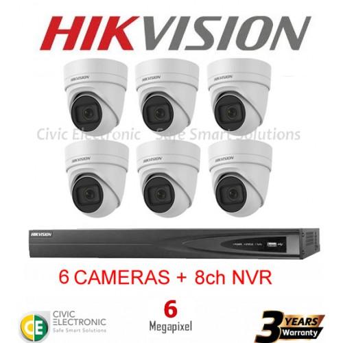 Hikvision 8ch 6MP Motorised VF Turret Kit