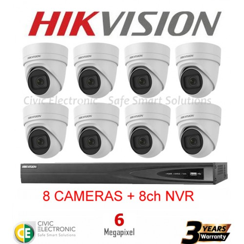 Hikvision 8ch 6MP Motorised VF Turret Kit