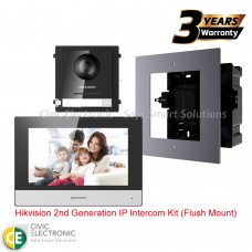 Hikvision 2nd Generation IP Intercom Kit (Flush Mount)