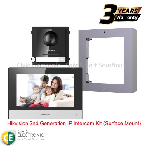 Hikvision 2nd Generation IP Intercom Kit (Surface Mount)