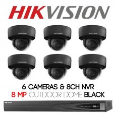 Hikvision 6 x Outdoor Domes Shadow Series + 8CH NVR