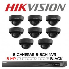 Hikvision  8 x Outdoor Domes Shadow Series + 8CH NVR