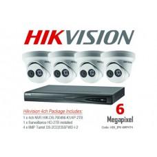 Hikvision 6MP IP 4ch Turret Bundle Kit