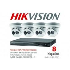 Hikvision 8MP IP 4Ch Turret Bundle Kit