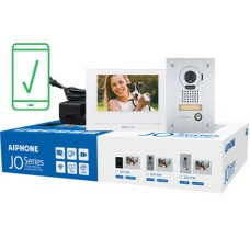 "Aiphone AI-JOS-1FW Mobile-Ready Box Set with Flush-Mount Door Station 7"" Video Intercom Kit (WiFi)"