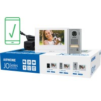 "Aiphone AI-JOS-1VW Mobile-Ready Box Set with Surface-Mount Door Station 7"" Video Intercom Kit (WiFi)"