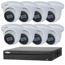 Dahua 8MP 8CH CCTV Kit: 8 x IP Starlight Eyeball Turret Cameras + 8CH NVR