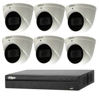 Dahua 6MP 8CH CCTV Kit: 6 x IP Motorised Turret Cameras + 8CH NVR