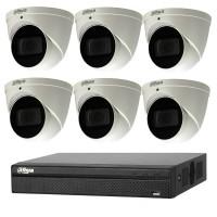 Dahua 6MP 8CH CCTV Kit: 6 x IP Eyeball WizSense Cameras + 8CH NVR