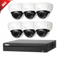 Dahua 8MP 8CH CCTV Kit: 6 x IP Dome Cameras + 8CH NVR