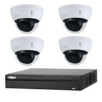 Dahua 8MP 4CH CCTV Kit: 4 x IP Starlight Dome Cameras + 4CH NVR