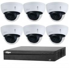 Dahua 8MP 8CH CCTV Kit: 6 x IP Starlight Dome Cameras + 8CH NVR