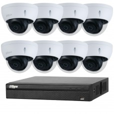 Dahua 8MP 8CH CCTV Kit: 8 x IP Starlight Dome Cameras + 8CH NVR