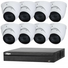 Dahua 8MP 8CH CCTV Kit: 8 x IP Starlight Motorised Turret Cameras + 8CH NVR