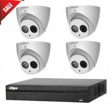 Dahua 6MP 4CH CCTV Kit: 4 x IP Turret Cameras + 4CH NVR