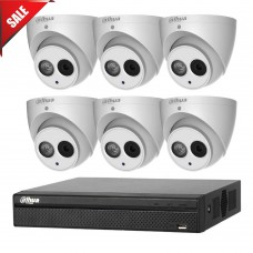 Dahua 6MP 8CH CCTV Kit: 6 x IP Turret Cameras + 8CH NVR