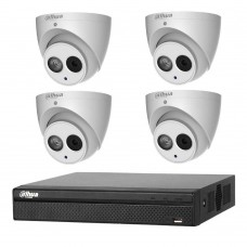 Dahua 6MP 4CH CCTV Kit: 4 x IP Smart Turret Cameras + 4CH NVR