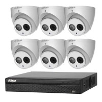 Dahua 6MP 8CH CCTV Kit: 6 x IP Smart Turret Cameras + 8CH NVR