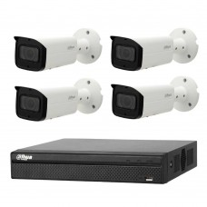 Dahua 8MP 4CH CCTV Kit: 4 x IP Starlight Motorised Bullet Cameras + 4CH NVR